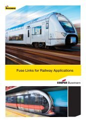 Fuse Links for Railway Applications - Cooper Bussmann