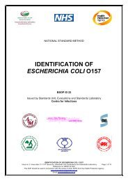 IDENTIFICATION OF ESCHERICHIA COLI O157