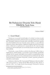 Bir Parlamenter Denetim Yolu Olarak TBMM'de Yazılı Soru