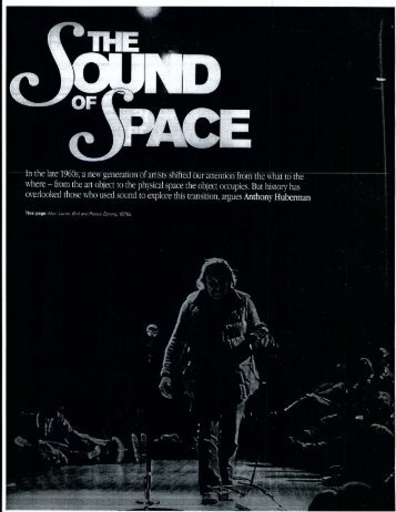 Huberman-2005-The Sound of Space.pdf - An International Archive ...