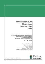 Jahresbericht zum Steirischen Seuchenplan 2005 - Land Steiermark
