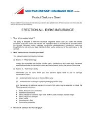 ERECTION ALL RISKS INSURANCE - Multi-Purpose Insurans Bhd