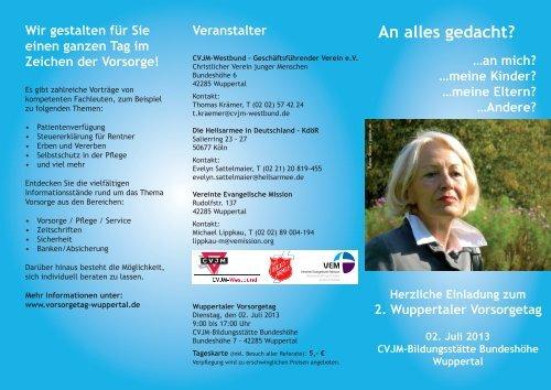 """Flyer """"2. Vorsorgetag"""" zum Download (PDF)"""