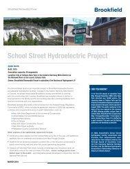 School Street Hydroelectric Project