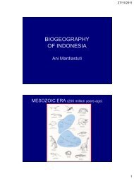 BIOGEOGRAPHY OF INDONESIA