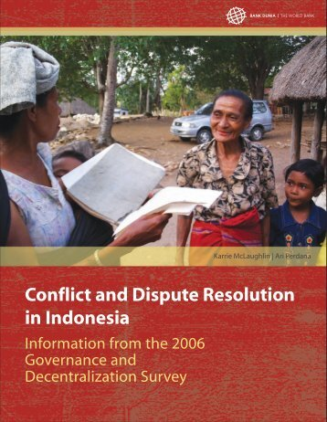 Conflict and Dispute Resolution in Indonesia - psflibrary.org