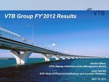 FY 2012 IFRS Results Presentation - VTB