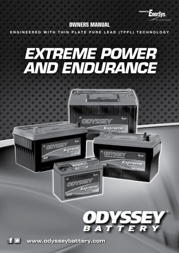 EXTREME POWER AND ENDURANCE - ODYSSEY Batteries