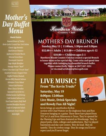 Mother's Day Buffet Menu - Cybergolf