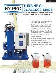 TURBINE OIL COALESCE SKIDS - Hy-Pro Filtration