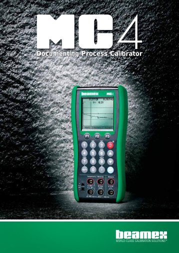 Features of the MC4 Calibrator - INCAL Instrumentos