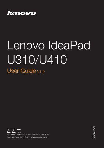 U410 User Guide - Lenovo