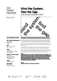Press file Mind the System, Find the Gap - z33