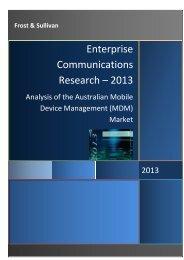 Frost & Sullivan Enterprise Communications Research - AirWatch