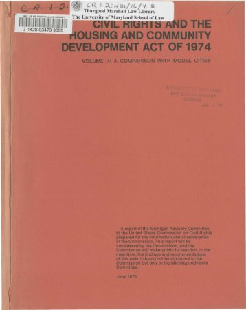 civil rights and the housing and community development act of 1974
