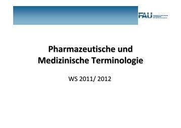 Skript Teil1 WS1112 - Institut für Pharmakologie und Toxikologie