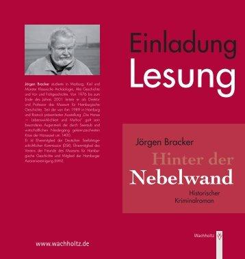 Einladung Zur Lesung Hinter Der Nebelwand   Internationales .