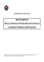 regolamento delle attivita' di vigilanza sui locali e luoghi di pubblico ...