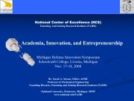 Academia, Innovation, and Entrepreneurship