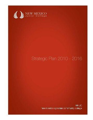 Approved NMJC Strategic Plan 2010-2016 - New Mexico Junior ...