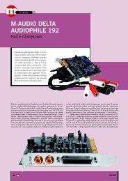 M-AUDIO DELTA AUDIOPHILE 192 - Music Info