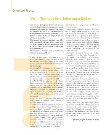 IVA - Transacções intracomunitárias - Ordem dos Técnicos Oficiais ...