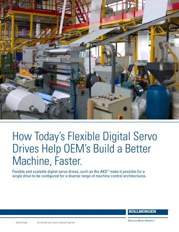 How Today's Flexible Digital Servo Drives Help OEM's ... - Kollmorgen