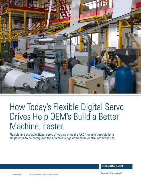 How Today's Flexible Digital Servo Drives Help OEM's     - Kollmorgen