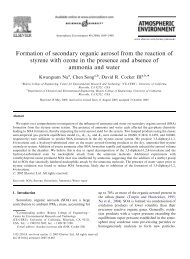 Formation of secondary organic aerosol from the reaction of styrene ...
