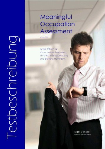 Meaningful Occupation Assessment - logo consult