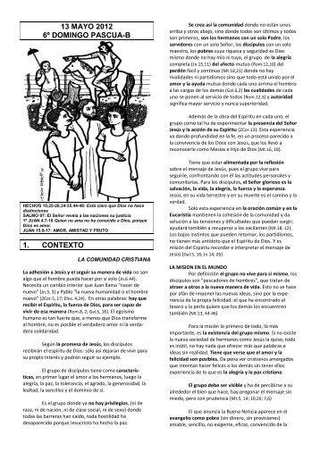 13 mayo 2012 6º domingo pascua-b 1. contexto - Escucha de la ...