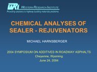 chemical analyses of sealer - rejuvenators - Petersen Asphalt ...