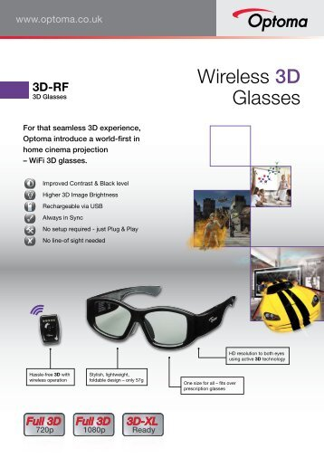 Wireless 3D Glasses - Optoma