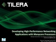 Developing High-Performance Networking Applications with ...