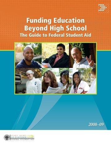 Funding Education Beyond High School - Career Cornerstone Center