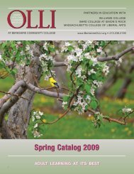 Spring Catalog 2009 - Osher Lifelong Learning Institute at BCC