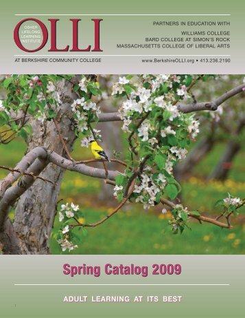 Spring Catalog 2009 - Osher Lifelong Learning Institute at BCC
