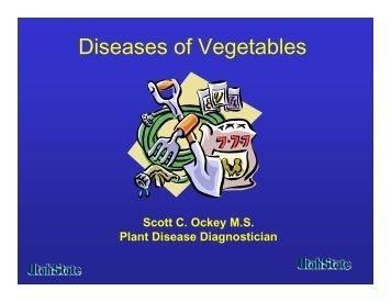 Diseases of Vegetables - Utah Pests