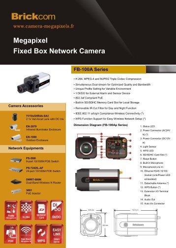 Megapixel Fixed Box Network Camera FB-100A Series