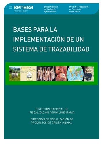 Bases para la implementación de un sistema de trazabilidad - Senasa