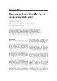 How do we know that the Earth spins around its axis?