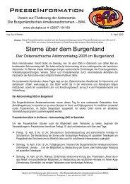 8. April 2005, Sterne über dem Burgenland