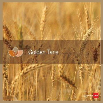 NSW Golden Tans Colour Card (0509) - PGH Bricks + Pavers