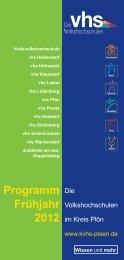 Programm Frühjahr 2012 - KVHS Plön
