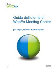 Guida dell'utente di WebEx Meeting Center - unito . it
