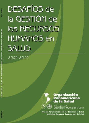 DG (i-viii)(esp).pmd - Observatorio de Recursos Humanos en Salud