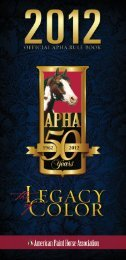 APHA Racing Rules and Regulations - Paint Horse Racing