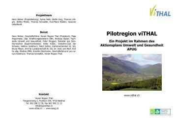 Pilotregion viTHAL Ein Projekt im Rahmen des Aktionsplans Umwelt ...