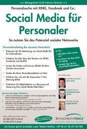 Seminar: Social Media für Personaler - Management Circle AG