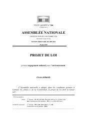 ASSEMBLÉE NATIONALE PROJET DE LOI - EZU